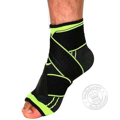 Foot Ankle Guard Support Brace Strap Pad Sleeve For Sport Gym Tendon Protector