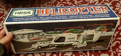 Hess 2001 Helicopter With Motorcycle And Cruiser