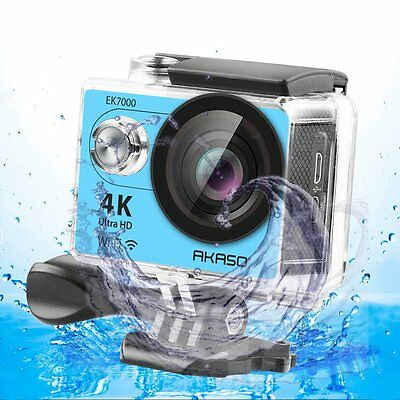 AKASO EK7000 4K WIFI Sports Action Camera Waterproof DV 12MP  Blue Refurbished