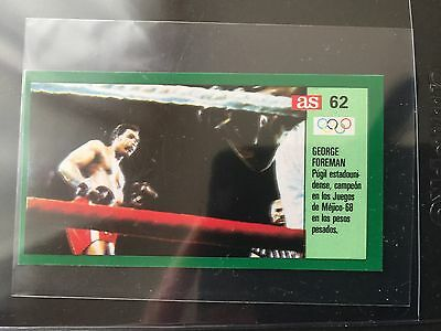 1989 George Foreman Card #62 . Spanish Boxing Card. Unstuck!!!