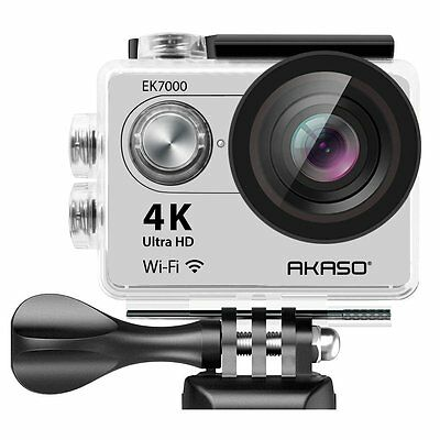 AKASO EK7000 4K WIFI Sports Action Camera Waterproof DV 12MP  Silver Refurbished