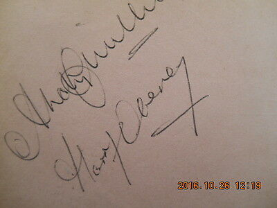 Ex West Ham, Signatures Harry Obeney, Andy Smillie & Peter Reader (1950/60's)