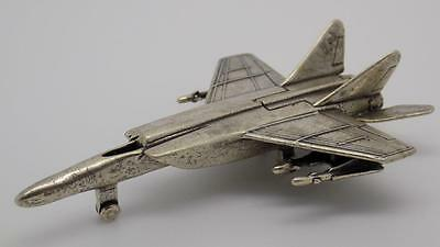 64g Vintage Solid Silver Beautiful Jet Miniature - Stamped - Made in Italy