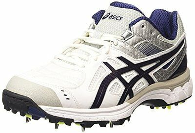 ASICS Gel-220 Not Out - Scarpe da Cricket Uomo, Bianco (white/indigo (Y2E)