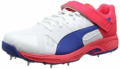 Puma Evospeed B, Scarpe da Cricket Uomo, Bianco (White-True Blue-Bright (S4u)