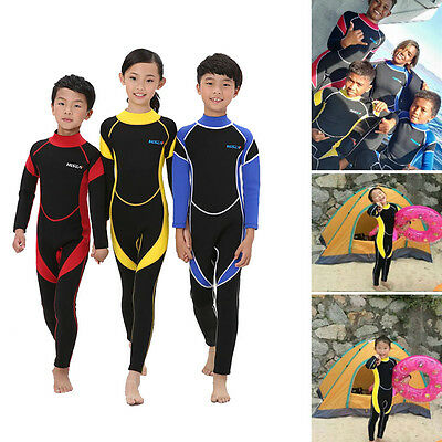 2.5mm Neoprene Wetsuit for Kids Boys Girls Surfing Snorkling Diving One Piece