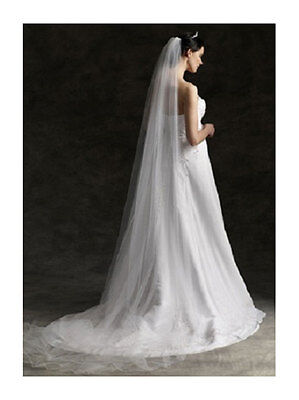 Ivory extra long cathedral veil 118 inch with comb bridal wedding essential