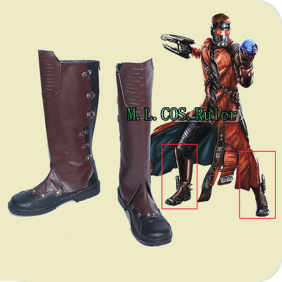 Latest Guardians of The Galaxy 2 Cosplay Shoes Peter Quill Star-Lord Long Boots