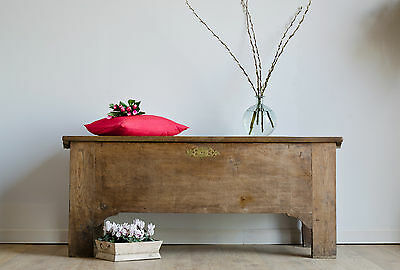 Large Antique 19th Century French Oak Coffer   Blanket Box   Mule Chest  Ottoman