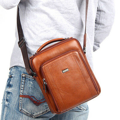 Men's Genuine Leather Messenger Shoulder Bag Purse Business Bag Handbag