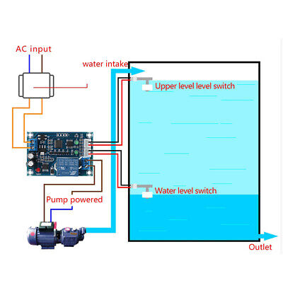 Full Automatic XH-M203 Water Level Controller Pump Switch Module DC/AC 12V Relay
