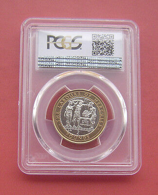 Gibraltar 2000AA The apples of the Hesperides 2 Pounds Bimetallic Coin PCGS MS65