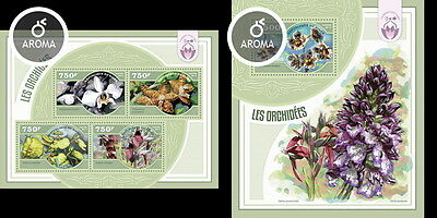 NIG14411ab Niger 2014 orchids orchidees MNH SET