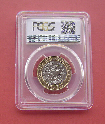 Gibraltar 1999AA The Augean Stables 2 Pounds Bimetallic Coin PCGS MS 65