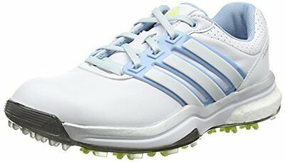 adidasAdipower Boost - Golf donna, Bianco (White/Soft Blue/Sunny Lime), (l5t)