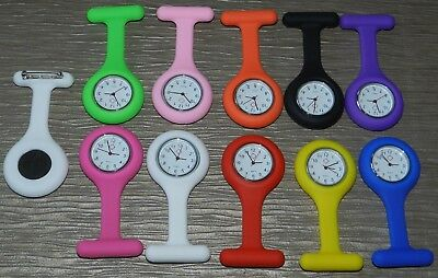 Montre silicone infirmiere medecin quartz épingle attache poche