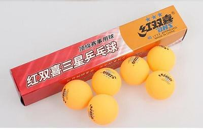 3 boxes (18 Pcs) 3 star DHS 40MM Olympic Table Tennis Orange Ping Pong Balls NEW