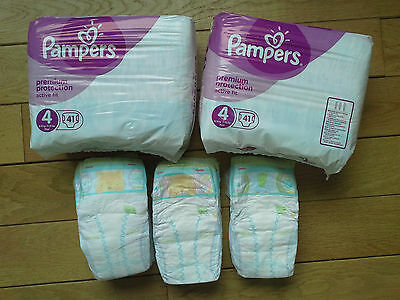 Lot 2 Paquets couches+vrac PAMPERS ACTIVE FIT TAILLE 4 (8-16kgs):100 couches