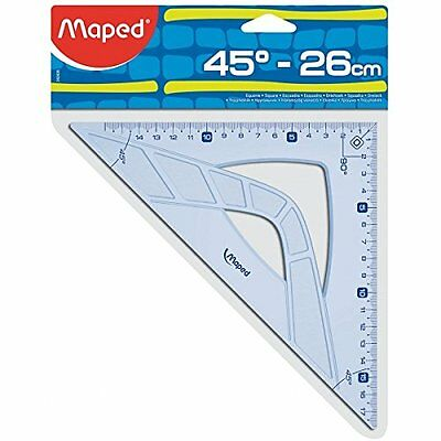 Maped 242426 triangle - triangles (45°, Blue, Translucent, Plastic) (f1a)