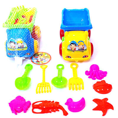 11x Beach Kid Sand Mould Sets Spade Rake Kit Sand Building Molds Pit Toy Gifts