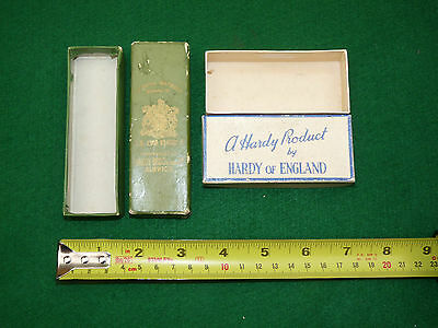 2 hardy vintage lure fishing card boxes inc rare green with gold one collector