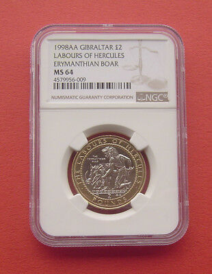 Gibraltar 2000 The cattle of Geryon 2 Pounds Bimetallic Coins UNC