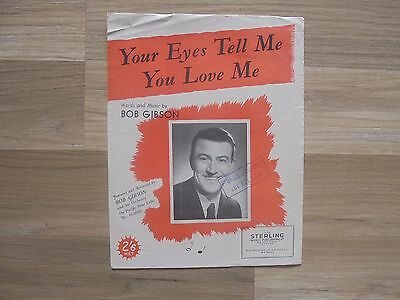 YOUR EYES TELL ME YOU LOVE ME_used sheet music_WALL BLING_ships from AUS!_14F