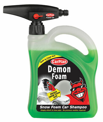 CarPlan Demon Foam Snow Car Shampoo Shine Built-In Hose Gun Pipe Wash Dirt 2L