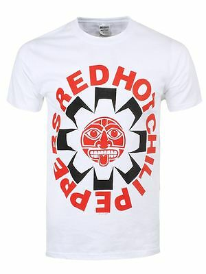 Red Hot Chili Peppers T Shirt Aztec Getaway Official White Mens RHCP Rock Merch