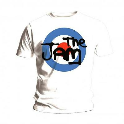 The Jam T Shirt Spray Logo Official Mens White Tee NEW Mod Classic Rock Merch