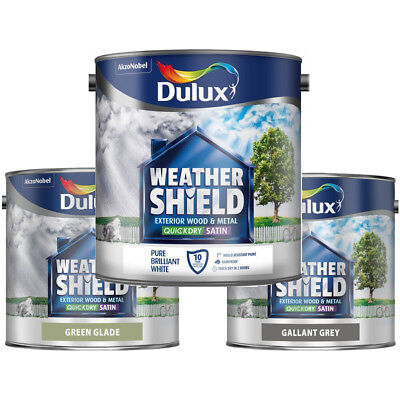 Dulux Weathershield Quick Dry Satin 2.5L For Exterior Wood And Metal All Colours