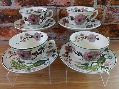 Myott Meakin Exotic Garden 4 cups and saucers Dynasty Collection