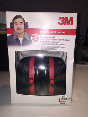3M Professional Earmuff 90561 30 Decibels NEW