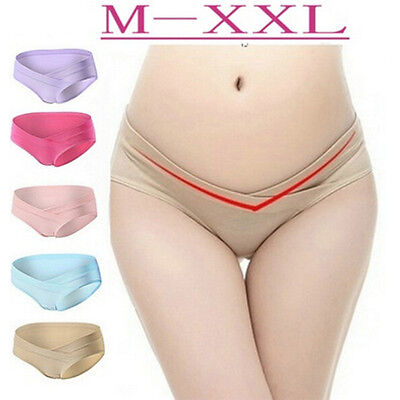 Cotton Adjustable Maternity Pregnant Panties Knickers Underwear Low Waist GD