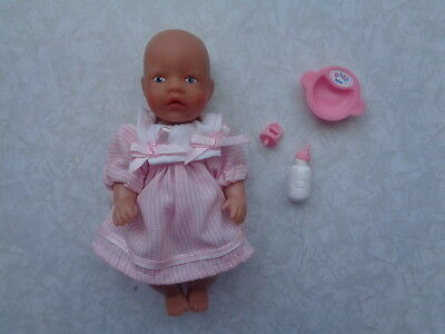 Baby Born Miniworld Doll In Pink Party Dress