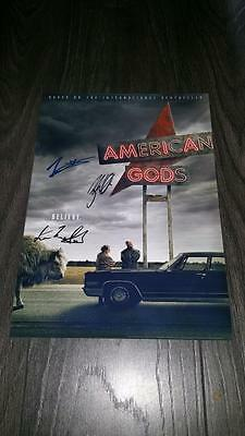 """American Gods Pp Signed 12""""x8"""" A4 Photo Poster Ricky Whittle Ian Mcshane"""