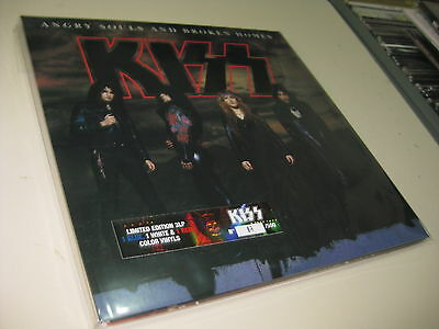 Kiss 3 Lp Angry Souls And Broken Home Color Vinyls  180 Grams   29/11/1992