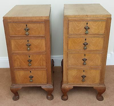 Pair of beautiful Burr Walnut bedside drawers/ cabinets/ chests of drawers