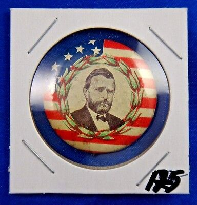 Ulysses S. Grant US Flag Presidential Campaign Political Pin Pinback Button