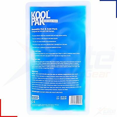 Koolpak Reusable Hot Cold Ice Gel Pack First Aid Sports Heat Pad 28cm x 16cm