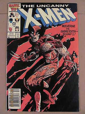 Uncanny X-Men #212 Marvel Comics Mutant Massacre Newsstand Edition Sabretooth