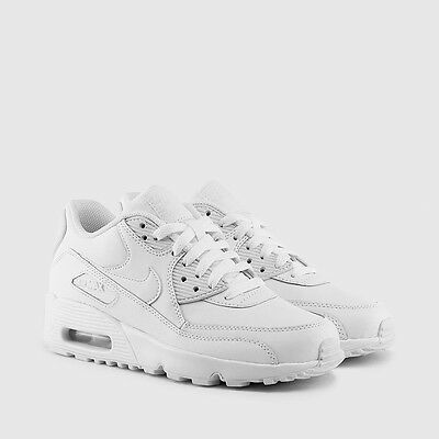 Nike GS AIR MAX 90 LEATHER NEW AUTHENTIC White 833412-100