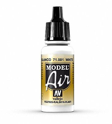 Vallejo Model Air, Colore Acrilico, 17 ml, Bianco (a1W)