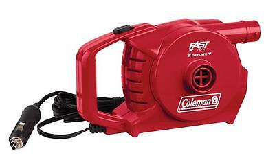 Coleman 12v QuickPump Red Camping / Home Airbed Pump