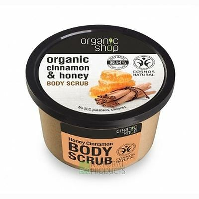 Organic Shop Body Scrub Natural Cinnamon and Honey 250ml