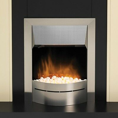 Glen Dimplex Inset Optiflame LED Electric Fire Stainless Steel  220V 1&2kW SALE