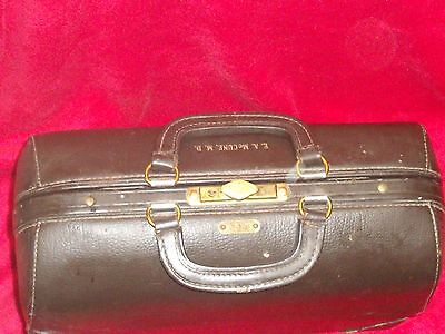 Antique Dr Bag Emdee by Schell Leather goods Co