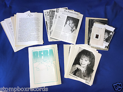 LOT vintage 1980's-90's Reba McEntire PRESS KIT BIO(21) 8X10 PHOTO DISCOGRAPHY