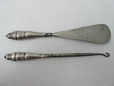 Silver Shoe Horn and Boot Hook