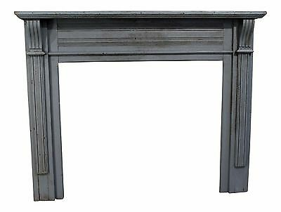 Antique Architectural Salvage Wood Painted Country French Farm Fireplace Mantel